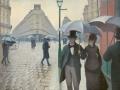 07_ Густав Кайботт. Парижская улица дождливый день.