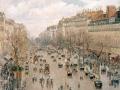 09_Камиль Писсарро. Бульвар Монмартр в Париже.