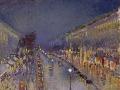 11_Камиль Писсарро. Бульвар Монмартр ночью.