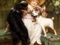 13_Артур Джон Элсли. Девочка с тремя собачками.