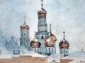 09_Василий Суриков. Колокольня Ивана Великого и купола Успенского собора.
